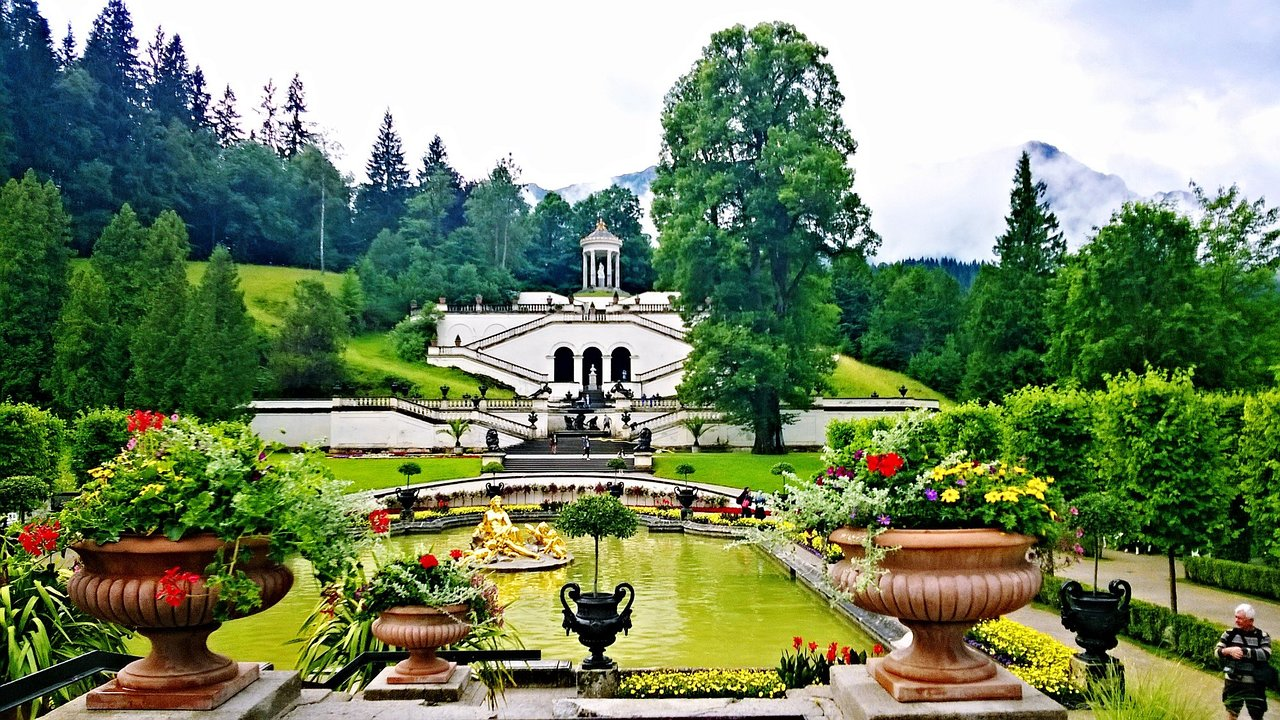 view on beautiful gardens