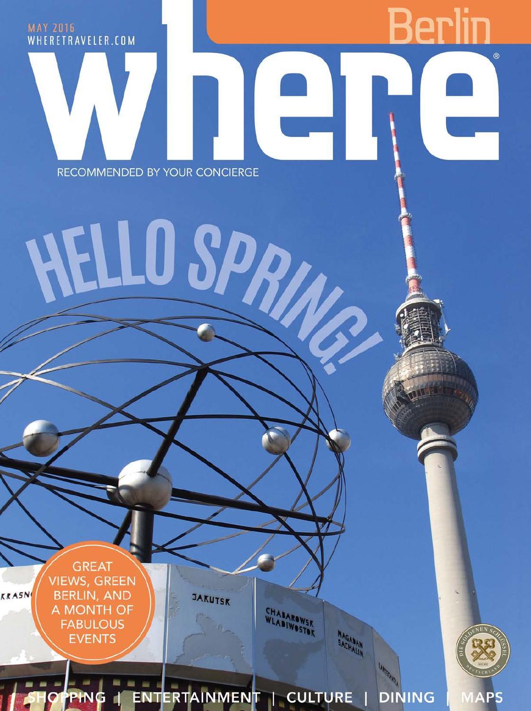 Berlin Britzer Garten Inspirierend where Magazin Mai 2016 by where Berlin Dinamix Media Gmbh