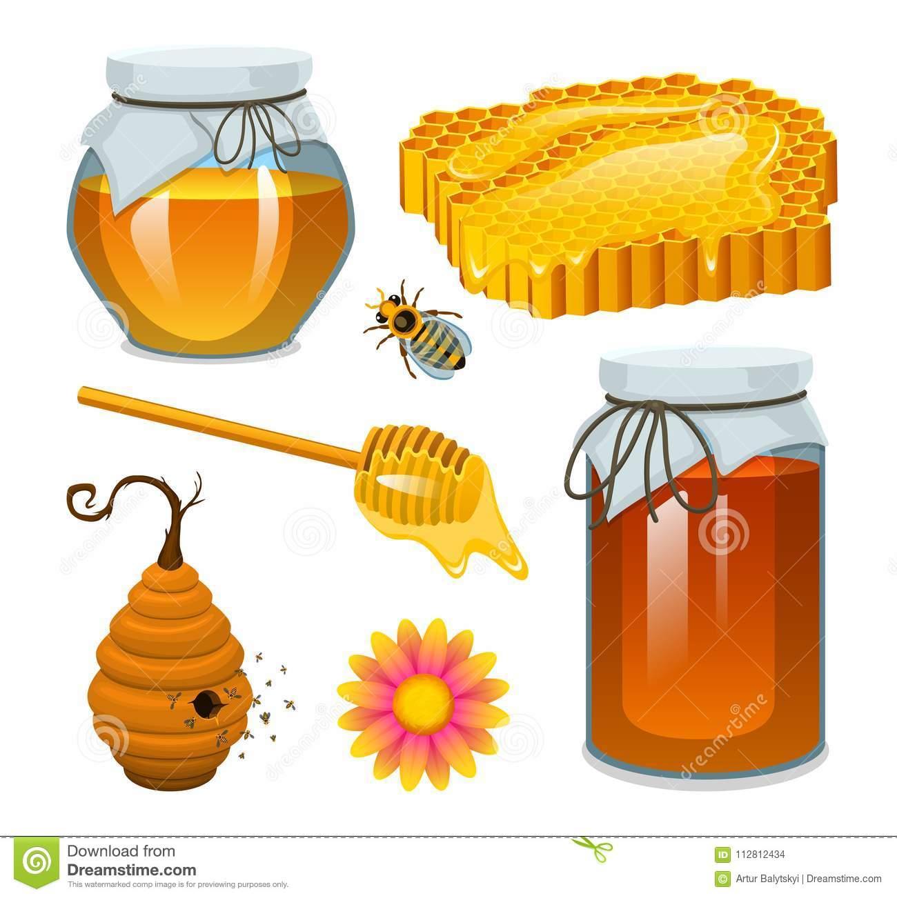 honig im glas biene und bienenstock löffel bienenwabe bienenhaus natürliches landwirtschaftliches produkt imkerei oder garten