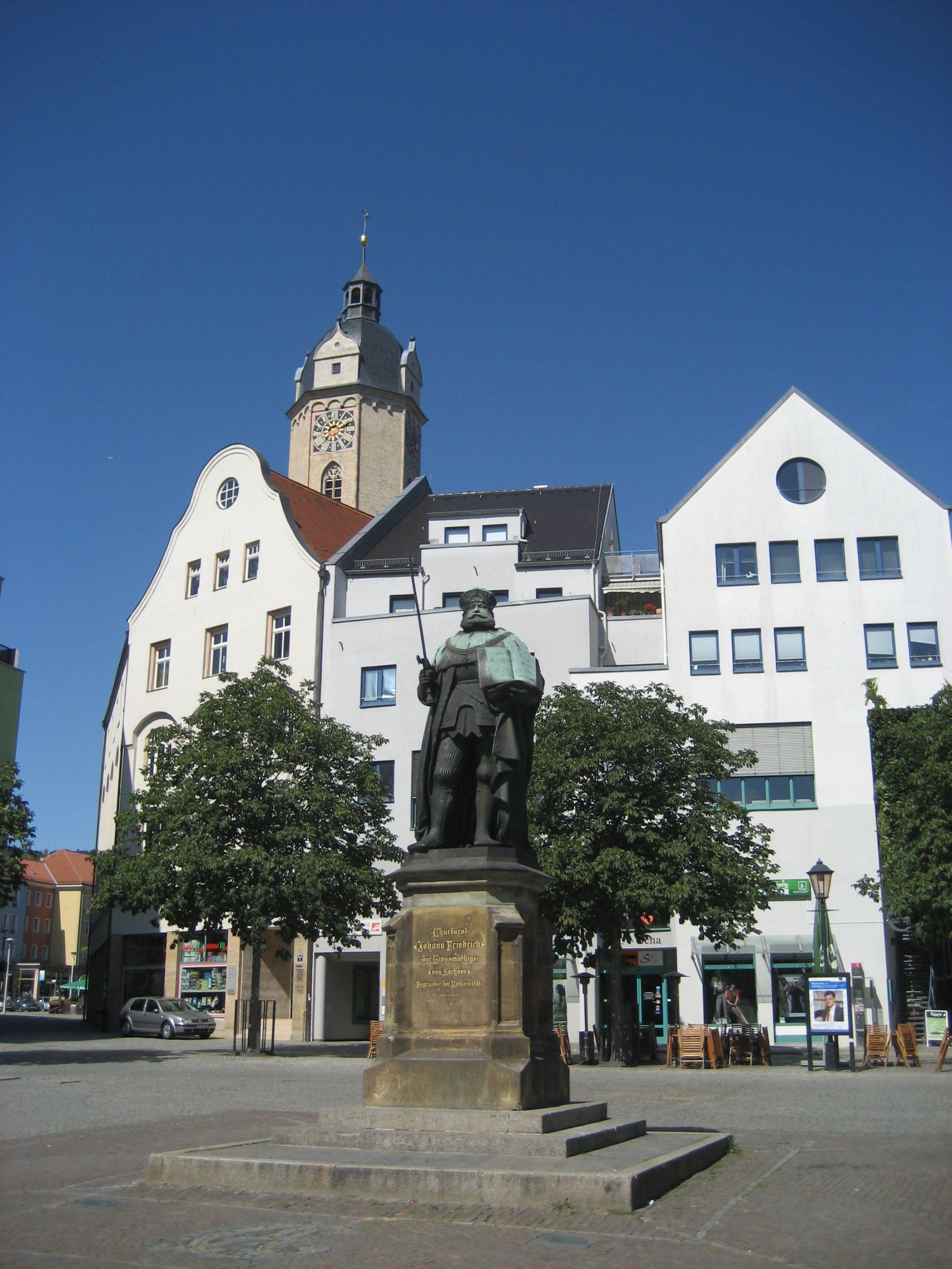 Ein Denkmal Johann Friedrichs I des Großmütigen in Jena