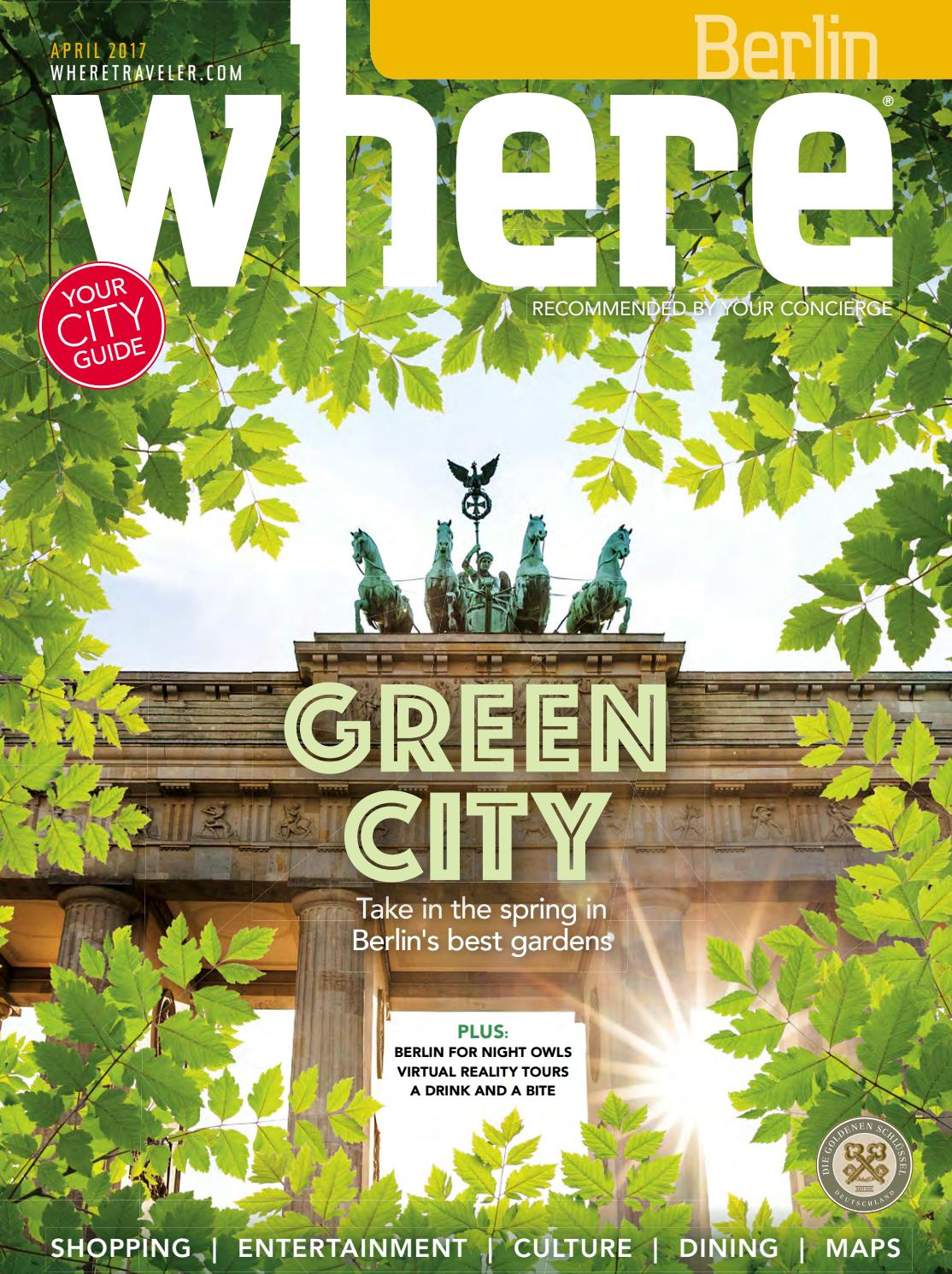 Botanischer Garten Rostock Best Of where Berlin April 2017 by Morris Media Network issuu