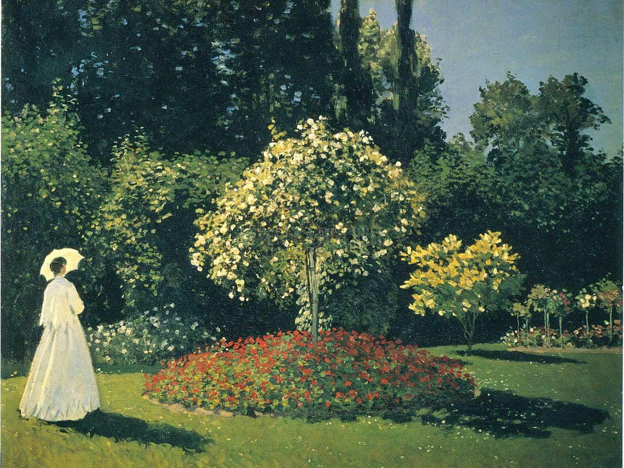 jeanne marguerite lecadre in the garden at sainte adresse a32 claude monet