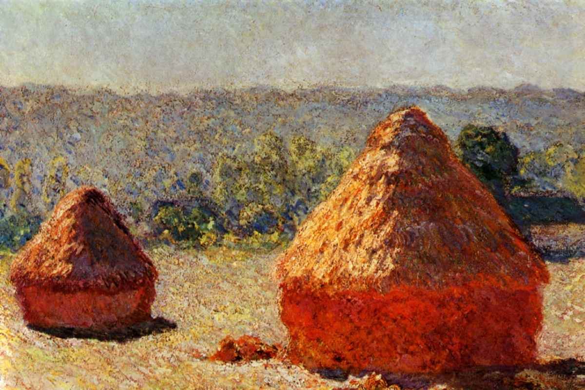 Claude Monet Haystack End of the Summer detail