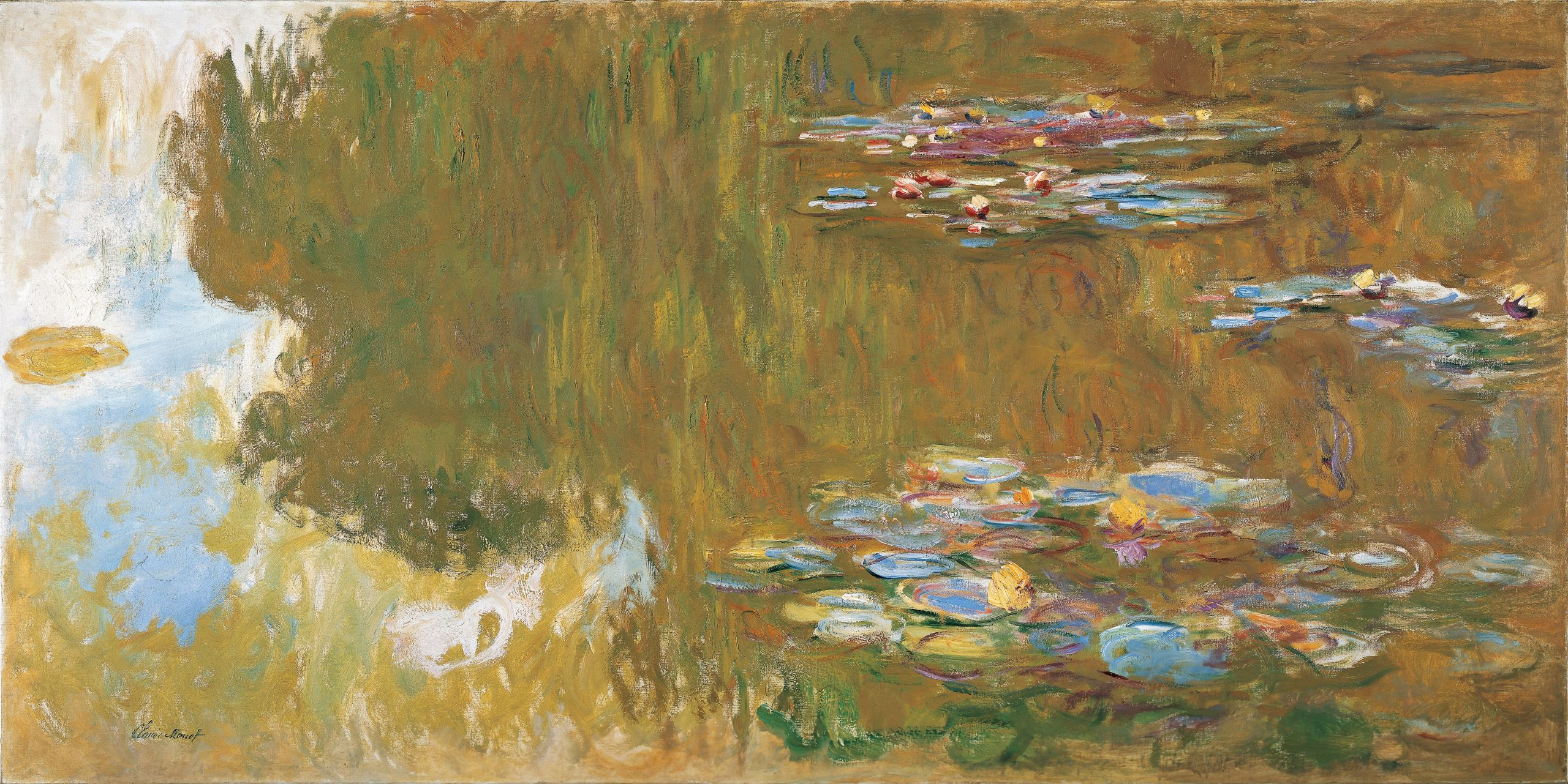 Claude Monet The Water Lily Pond c 1917 19 frame cropped Google Art Project