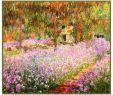 Claude Monet Garten Genial Details About Impressionist Claude Monet Garden Irises at Giverny Counted Cross Stitch Pattern
