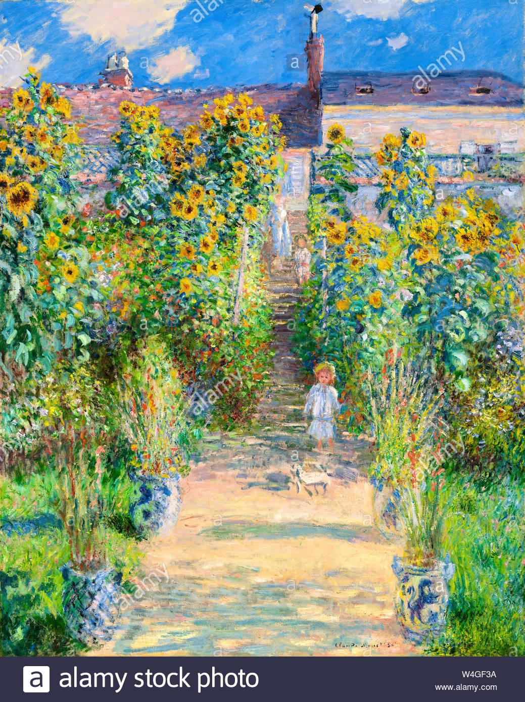 claude monet painting the artists garden at vtheuil 1881 W4GF3A