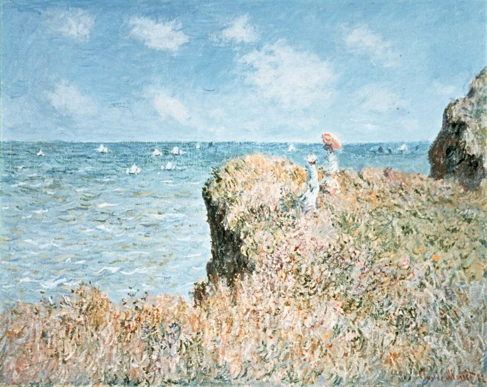 Cliff Walk canvas Pourville Claude Monet Art 1882