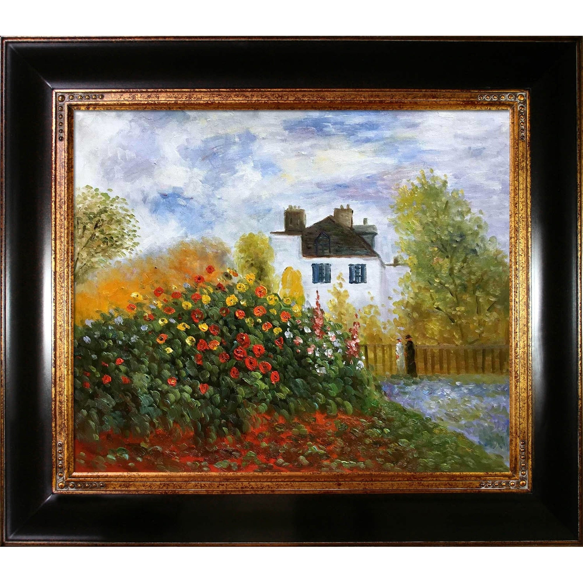 Claude Monet The Garden of Monet Hand Painted Oil Reproduction fee2198b e2f2 4898 b36b b e88