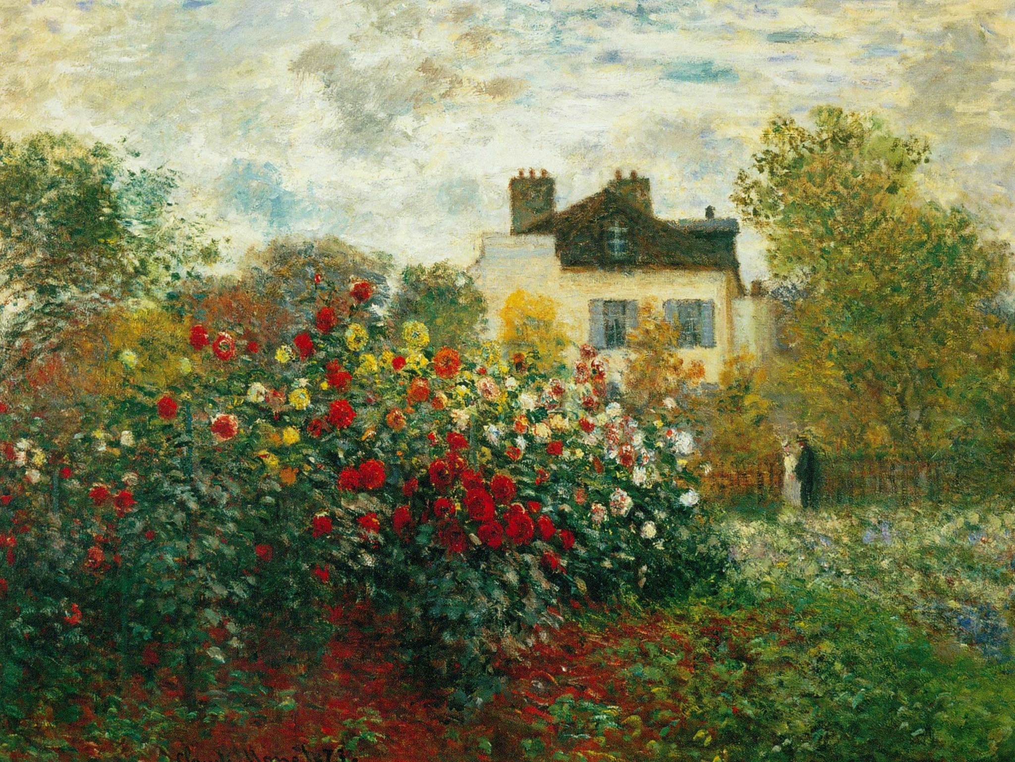 Claude Monet Garten Luxus Monet S Garden at Argenteuil by Claude Monet