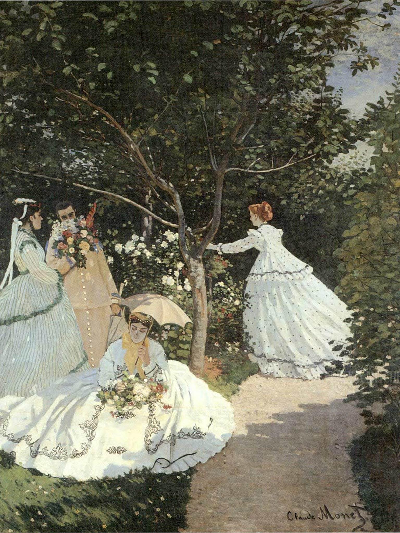 woman in the garden a32 claude monet