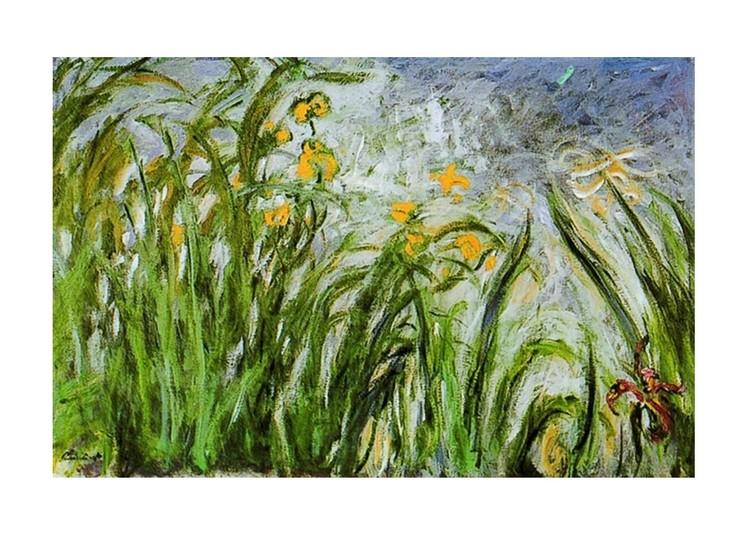 claude monet campo di fiori gialli i