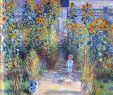 Claude Monet Garten Neu Monet S Garden at Vetheuil 1881 by Claude Monet