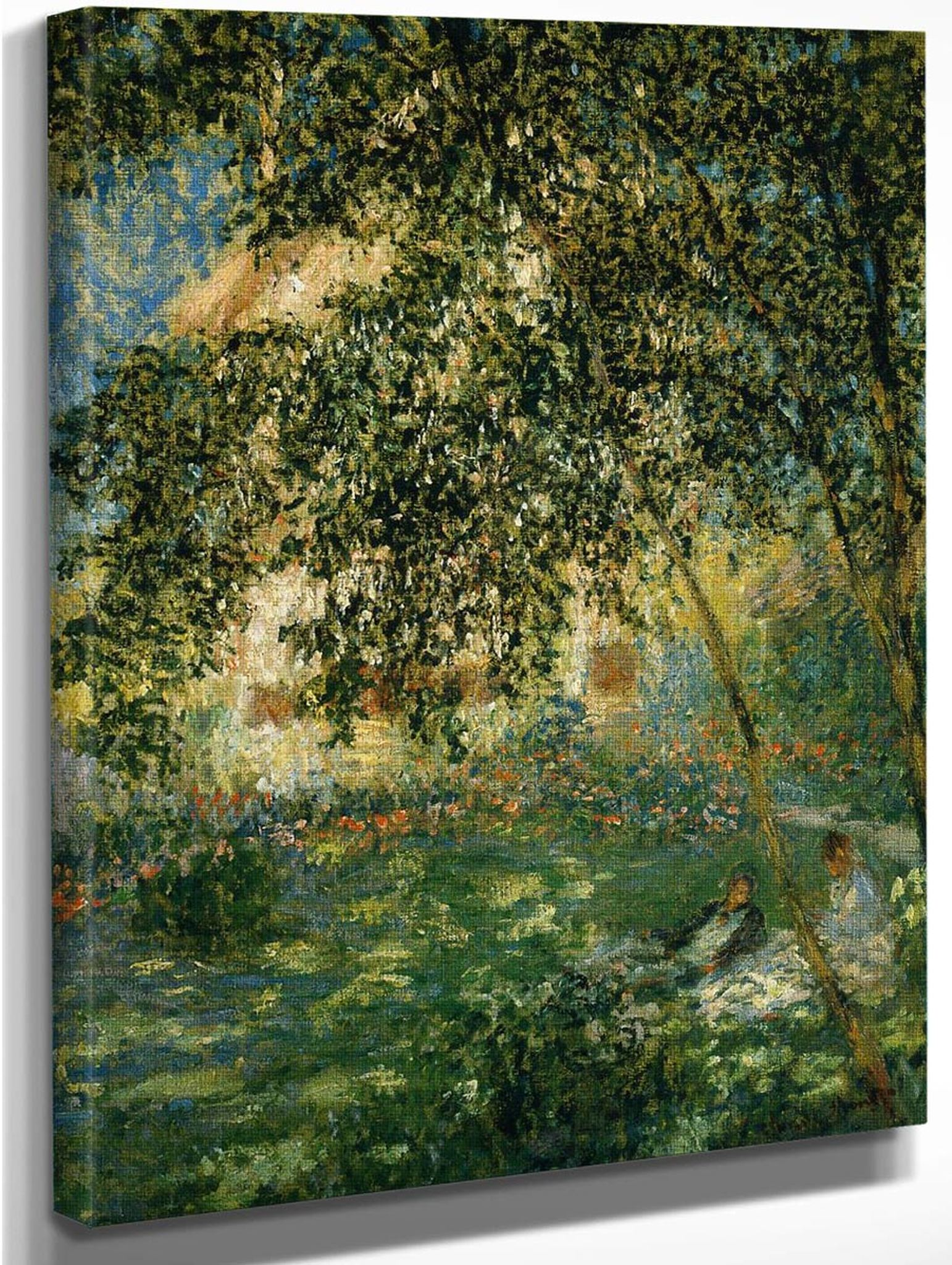 relaxing in the garden argenteuil claude oscar monet