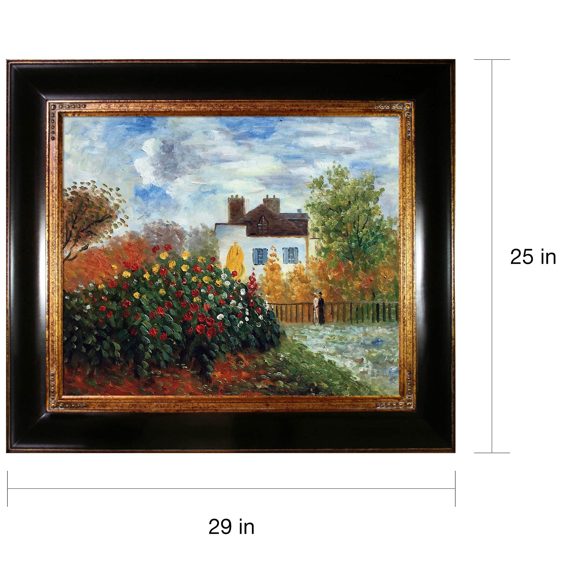 Claude Monet The Garden of Monet Hand Painted Oil Reproduction 25c0eae7 8460 466d 9540 e cff3c7