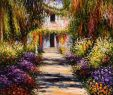 Claude Monet Garten Schön Garden Path at Giverny by Claude Monet Reproduction Oil