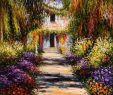 Claude Monet Garten Schön Garden Path at Giverny by Claude Monet Reproduction Oil