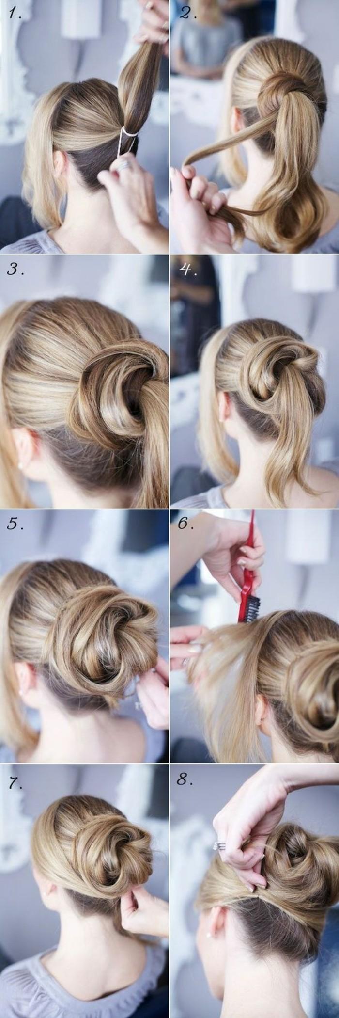 hochsteckfrisuren selber machen lange blonde haare hochstecken diy frisur frau k C3 A4mmen