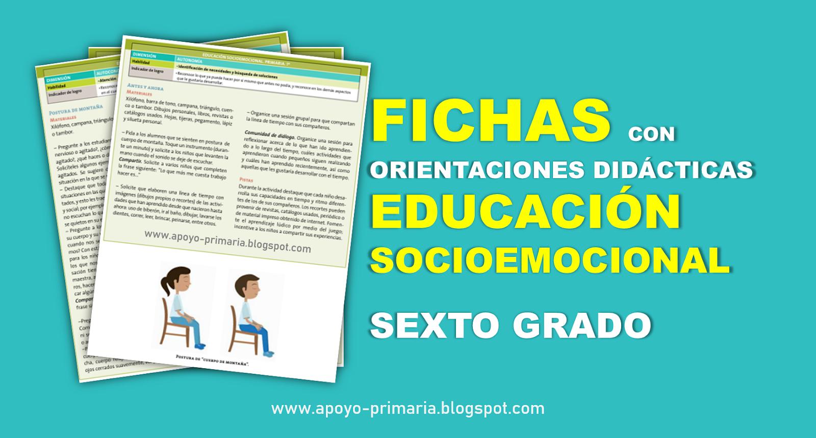 Educación Socioemocional 6to grado