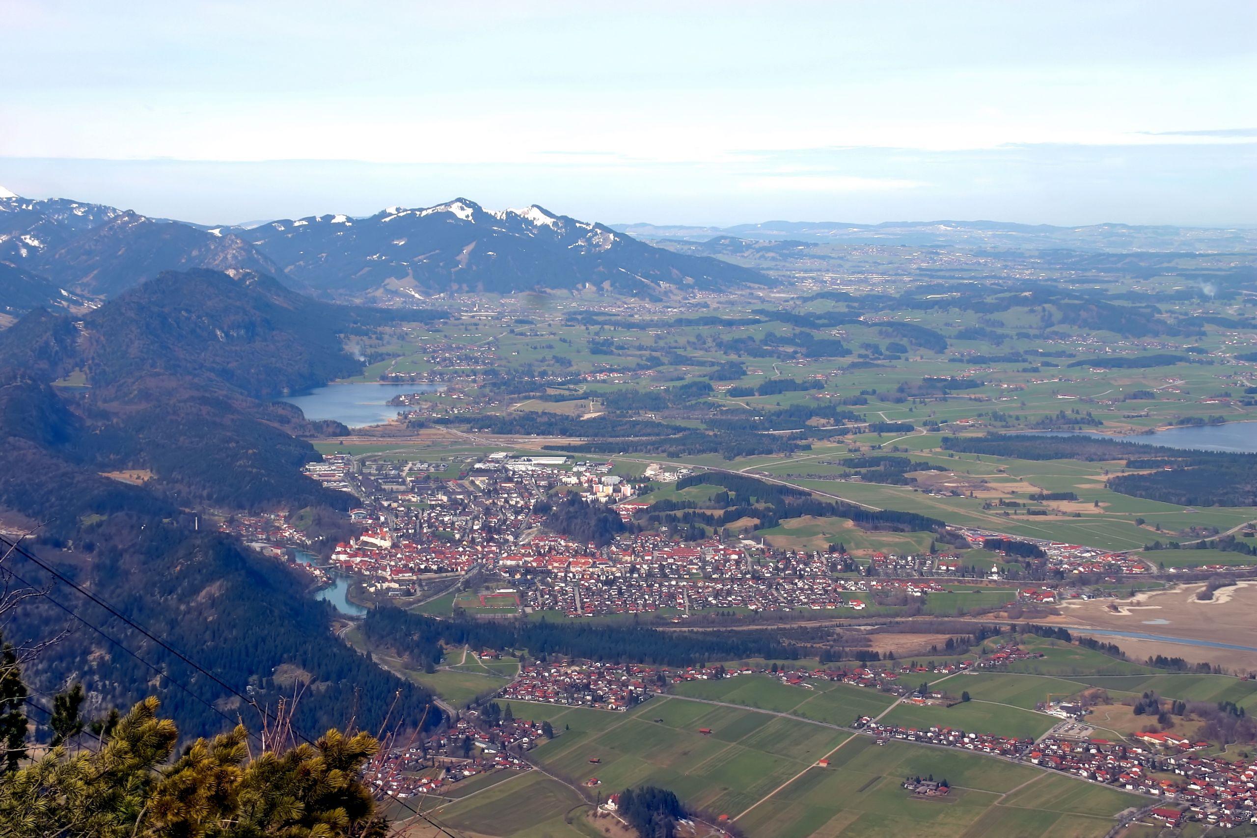 Füssen Blick über den Allgäu vom Tegelberg 3179 81