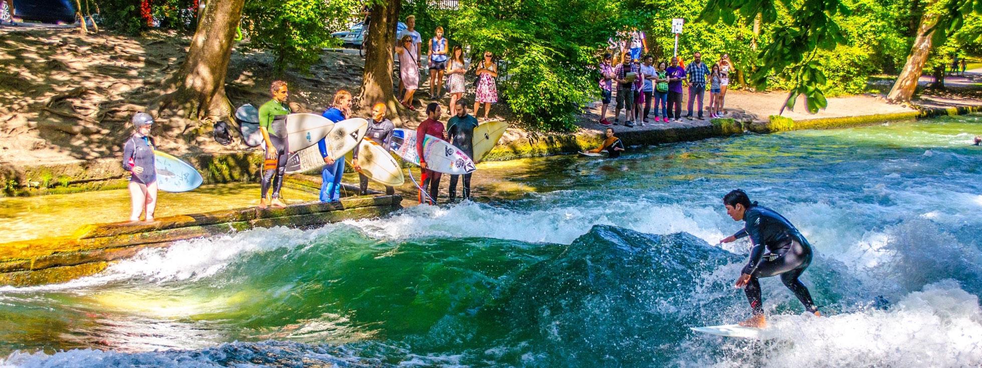 Englischer Garten München Parken Schön Surfen Wellenreiten Eisbach In München Das Offizielle