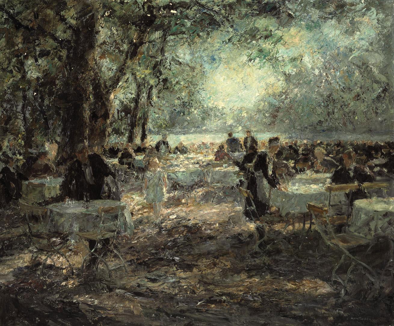 Englischer Garten München Schön Otto Pippel Impressionist Painter Tutt Art