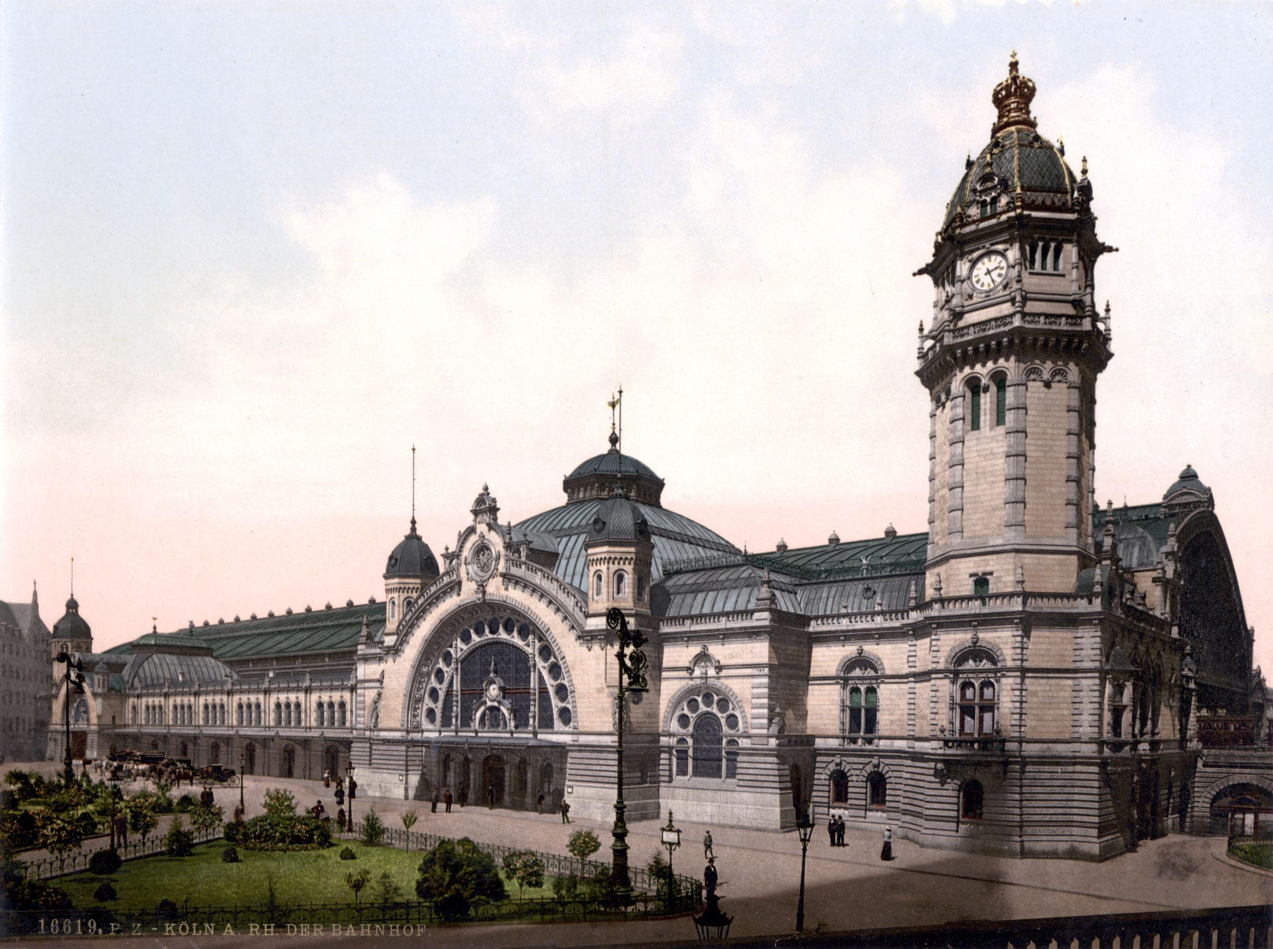 Kölner Hauptbahnhof um 1900