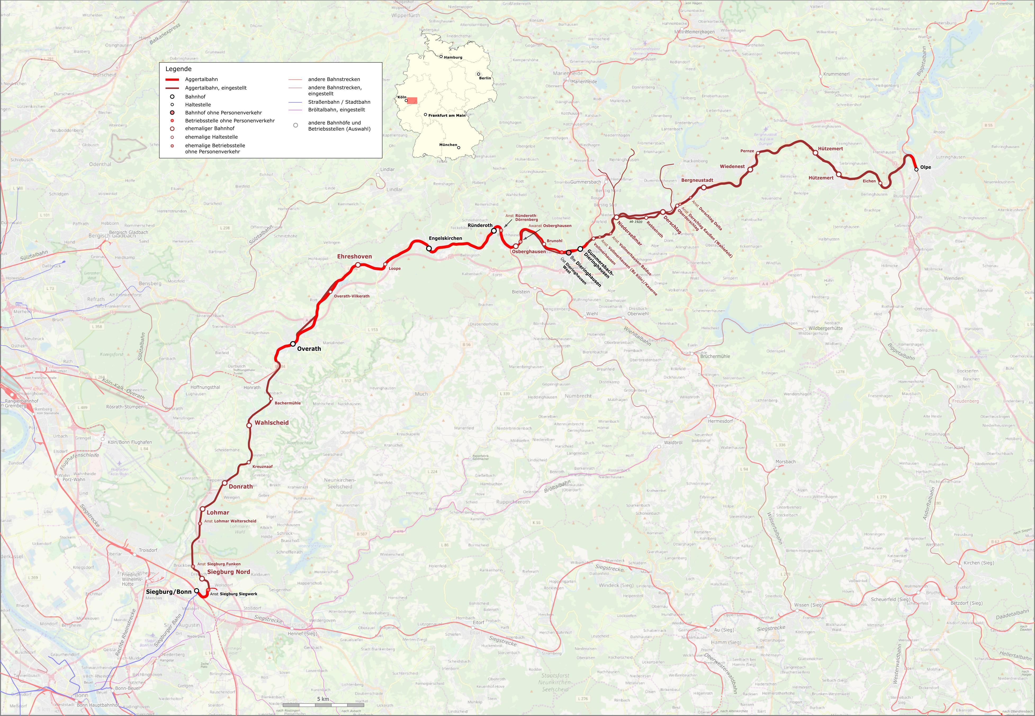 Aggertalbahn Karte