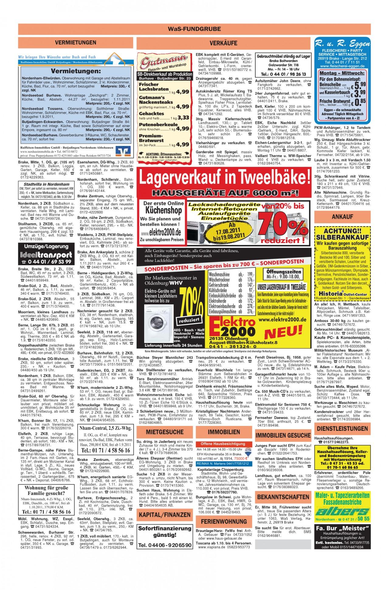 Garten Moorriem Einzigartig Wesermarsch Am sonntag Vom 14 08 2011 Seite 20