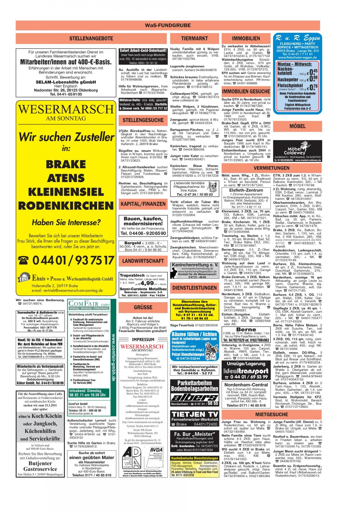 Garten Moorriem Inspirierend Wesermarsch Am sonntag Ausgabe Vom 06 02 2011 Seite 14