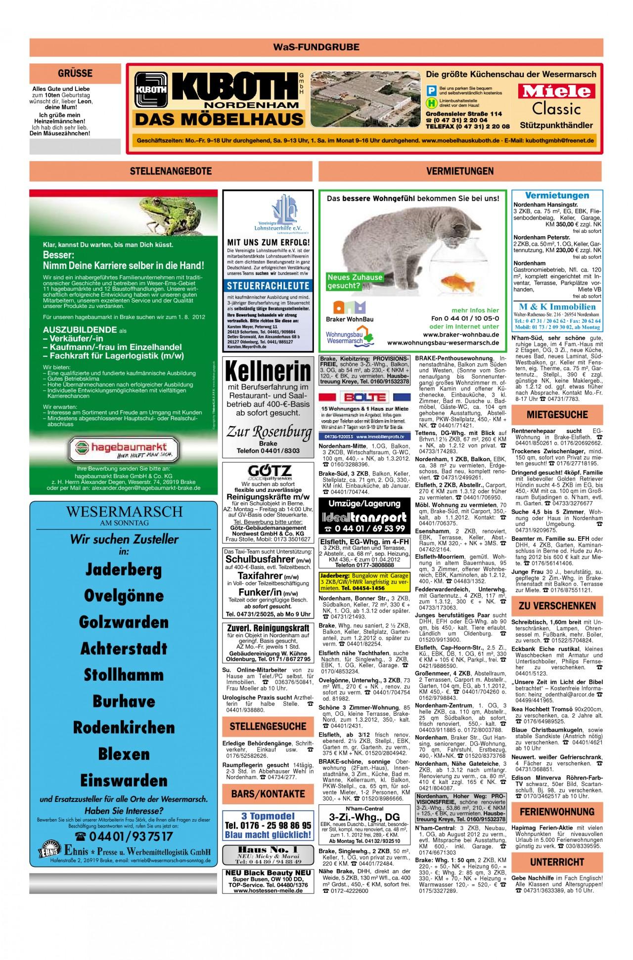 Garten Moorriem Inspirierend Wesermarsch Am sonntag Ausgabe Vom 11 12 2011 Seite 32
