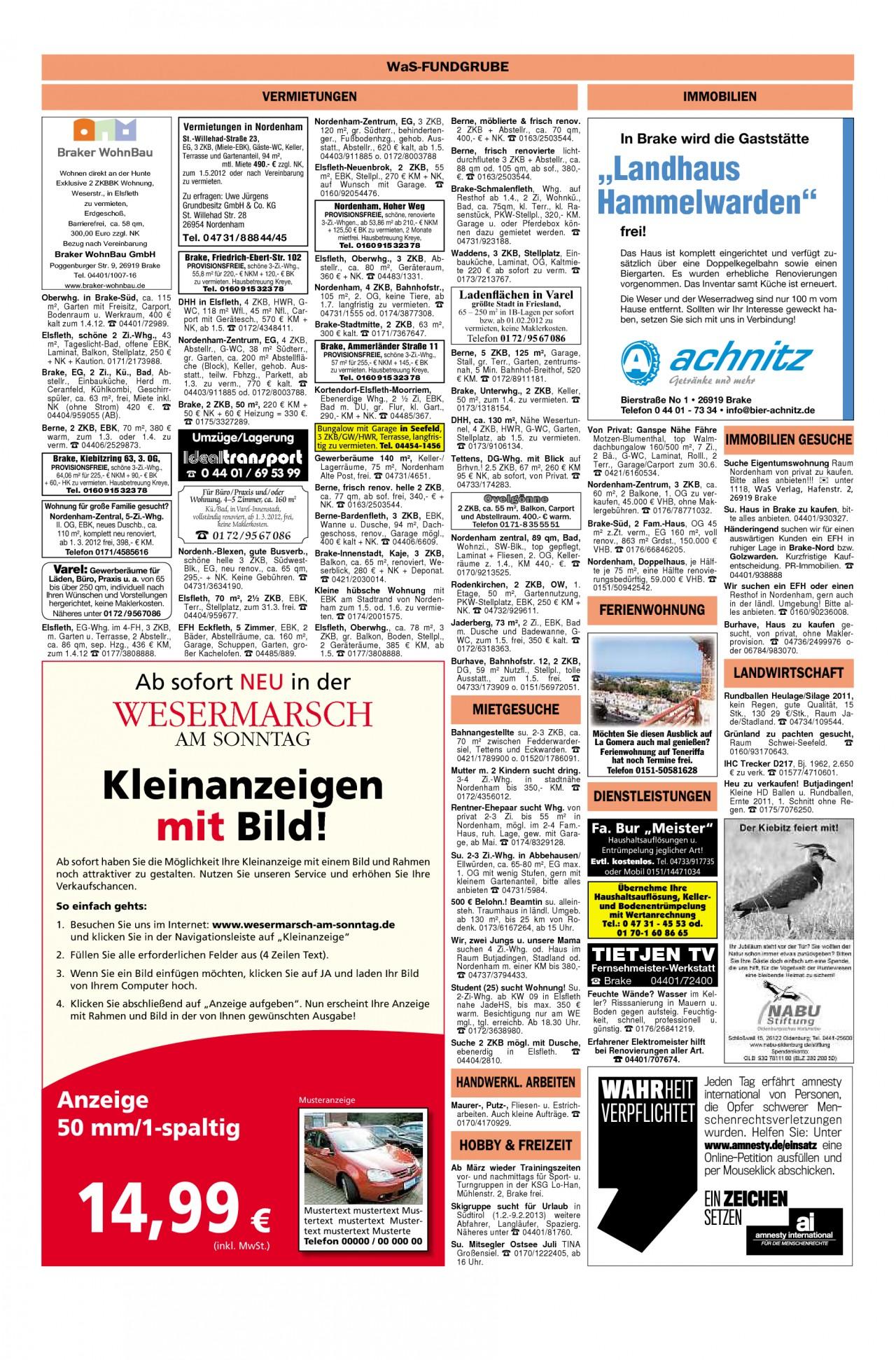 Garten Moorriem Schön Wesermarsch Am sonntag Ausgabe Vom 19 02 2012 Seite 16