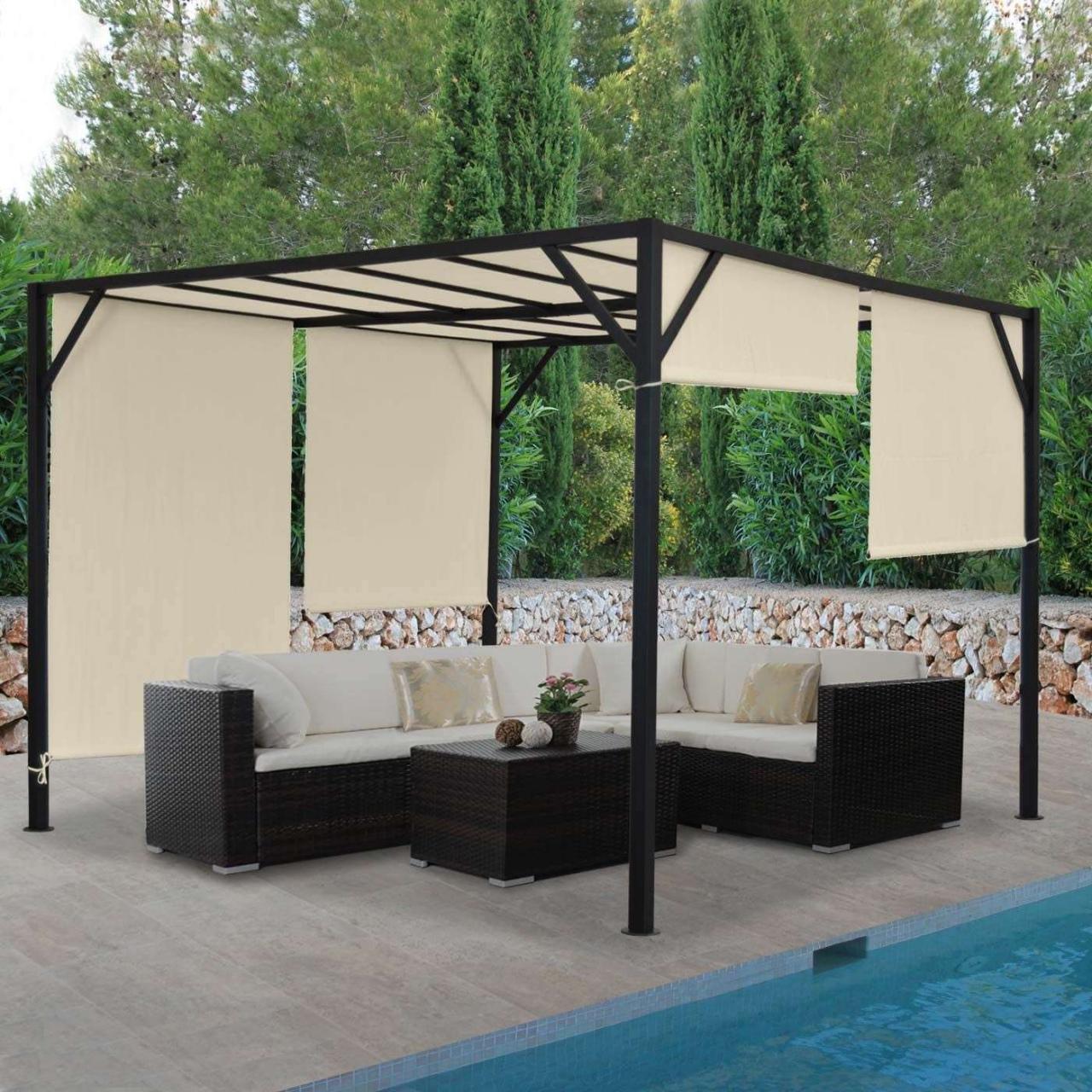 yardistry wood gazebo with aluminum roof 37 neu pavillon garten durch yardistry wood gazebo with aluminum roof 2
