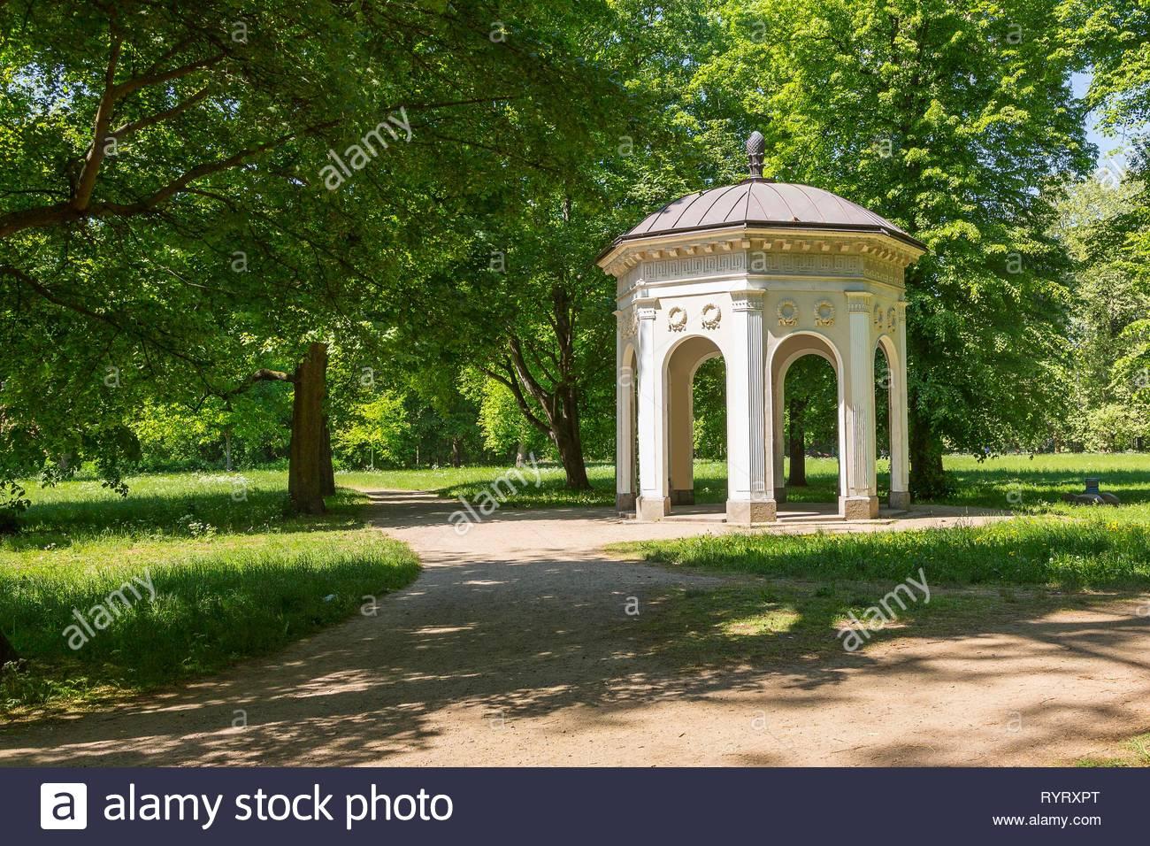 gerhard pavilion in the clara zetkin park leipzig saxony germany RYRXPT