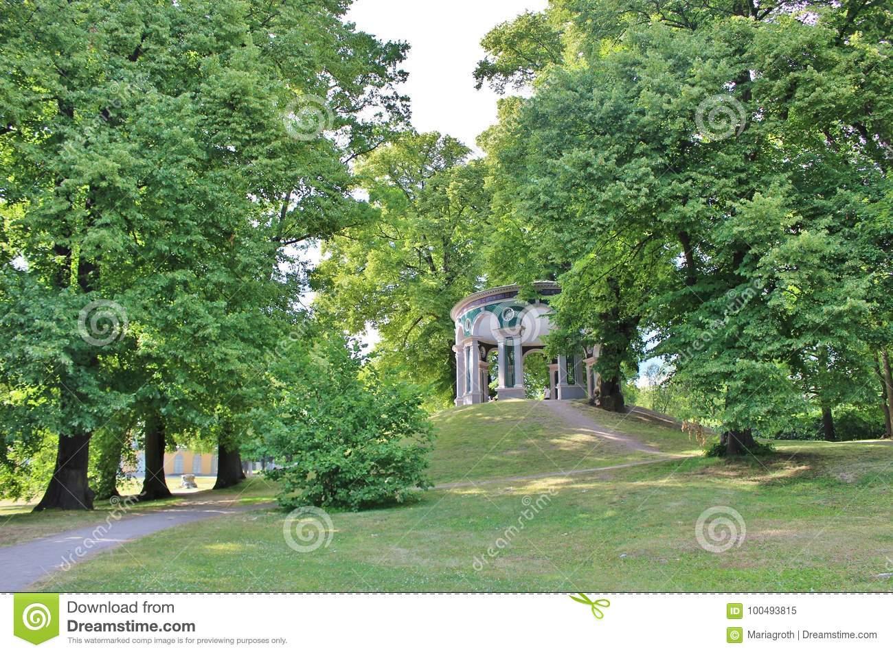 echo temple hagaparken haga park solna municipality stockholm county was founded initiative gustav iii