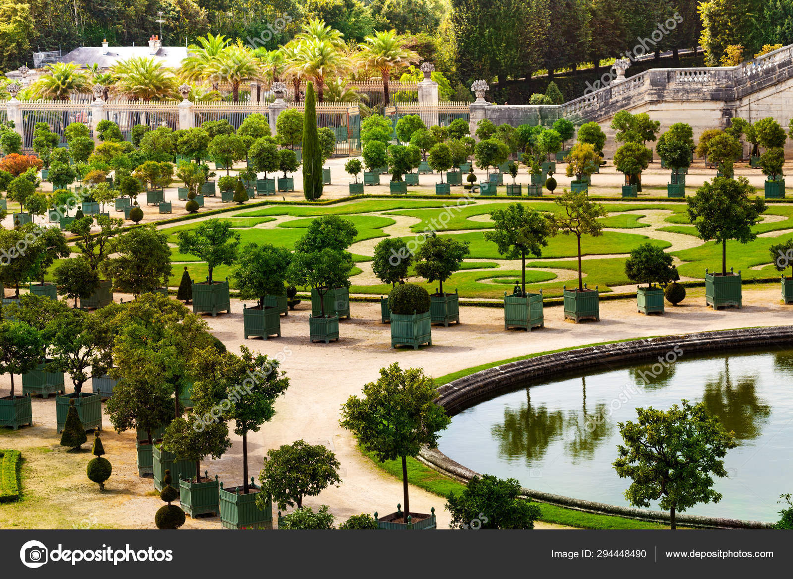 depositphotos stock photo beautiful view palace versailles garden