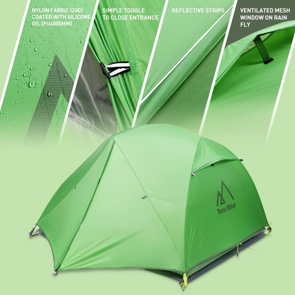 Garten Zelt Schön Terra Hiker Ultralight Camping Tent Durable Double Layer Waterproof & Windproof Tent Portable Folding Outdoor Tent for Hiking Climbing Camping for 4