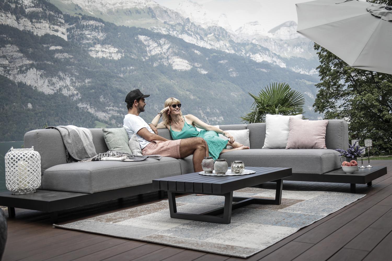 garten lounge sunbrella stoff grau