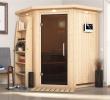 Gartensauna Luxus Karibu Sauna Larin Gratis Zubehör