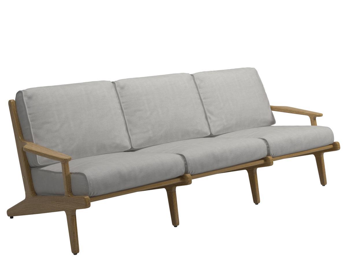 gloster bay sofa 3er hellgrau zoom