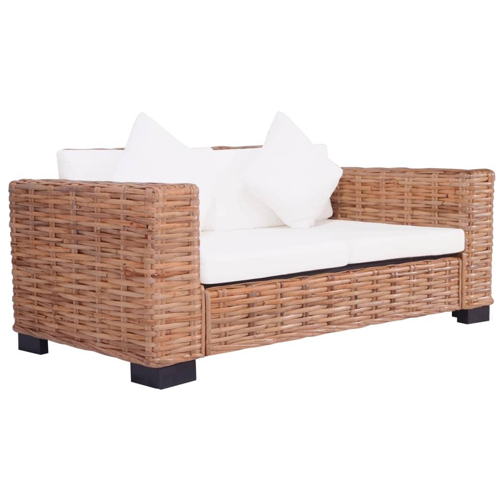 Gartensofa 3 Sitzer Luxus 2 Sitzer Gartensofa Natürliches Rattan