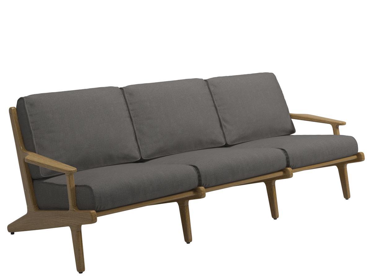 gloster bay sofa 3er granit zoom