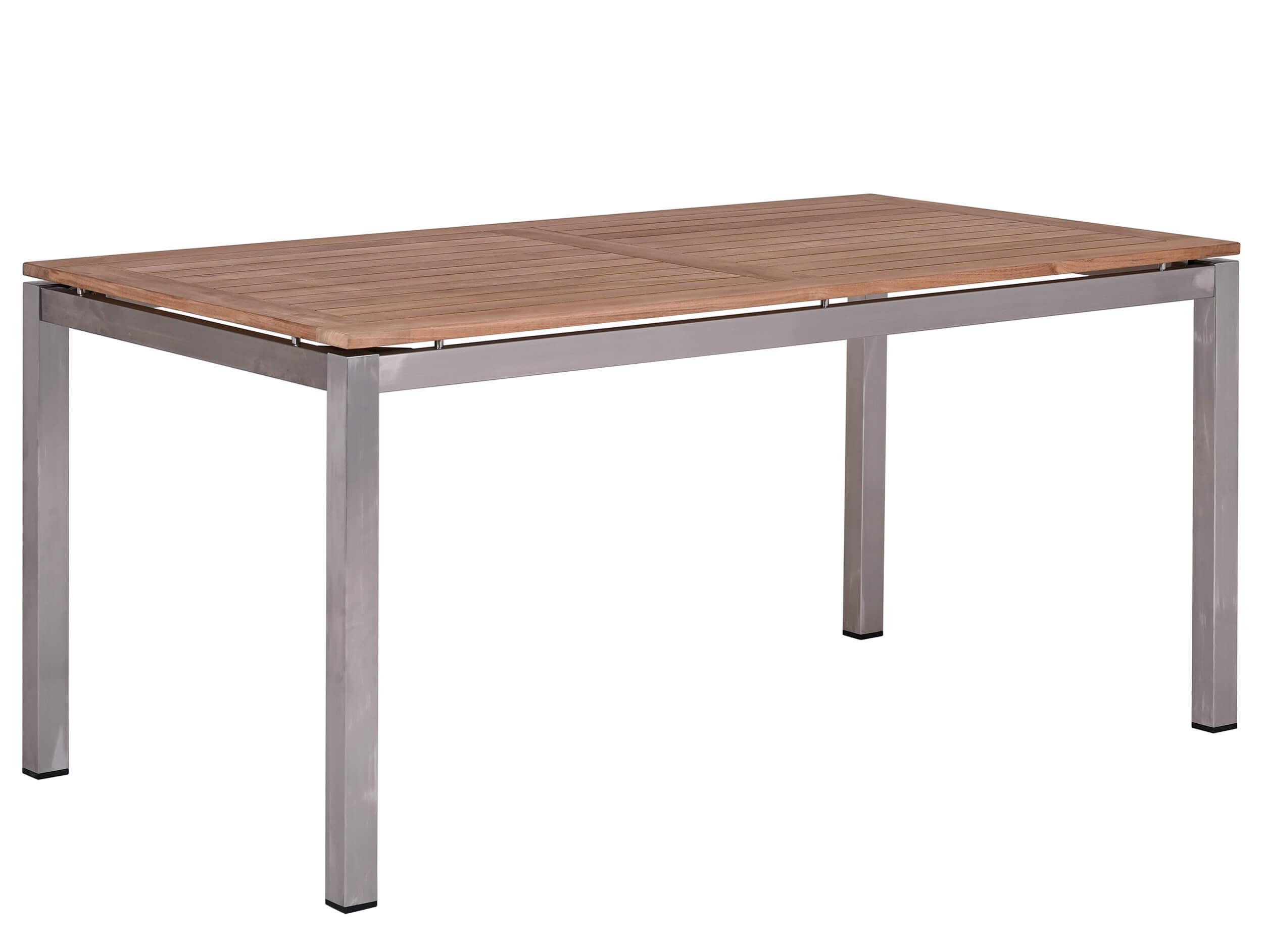 Gartentisch Edelstahl Einzigartig Edelstahl Teakholz Gartentisch Valis 160x90cm