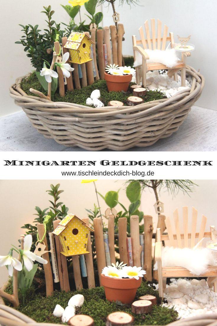 Geldgeschenk Garten Basteln Einzigartig Miniature Garden Spring Like Money T for the Birthday
