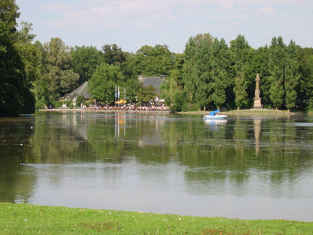 Giesinger Garten Frisch File Kleinhesseloher See Mit Denkmal Und Biergarten