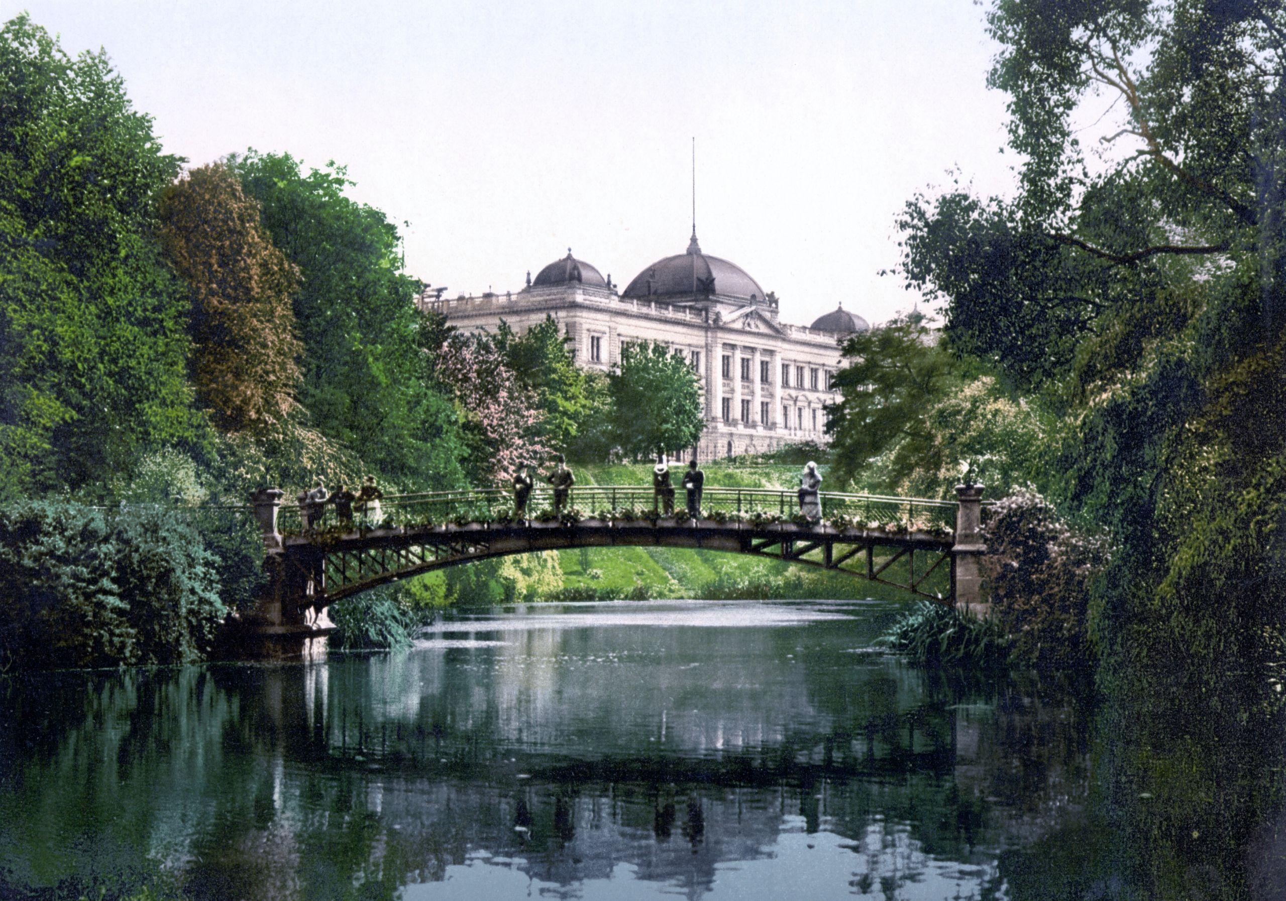 Botanischer Garten Johan van Valckenburgh Bruecke 1900