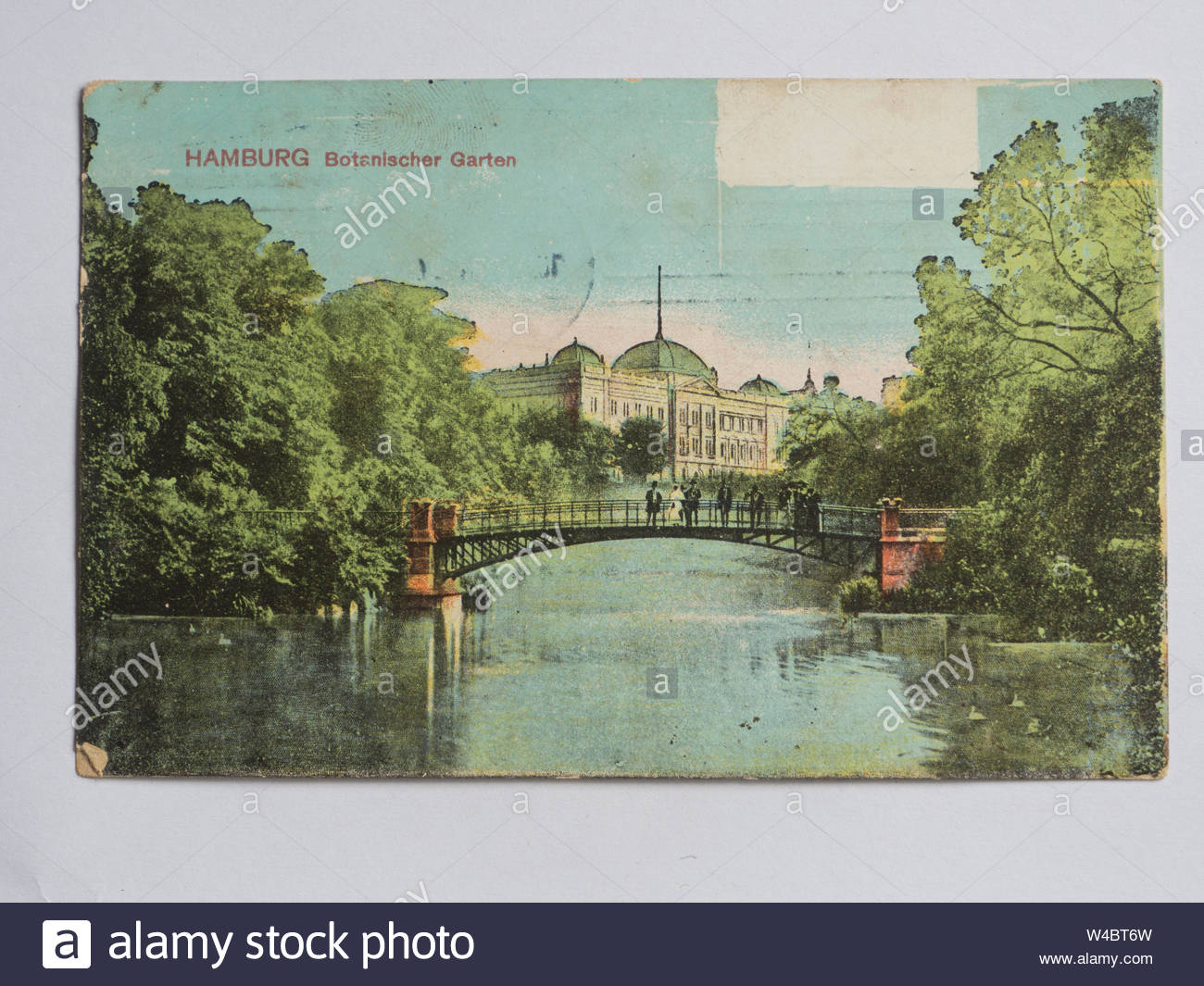 vintage postcard of the hamburg germany botanical garden used in usa ca 1915 W4BT6W