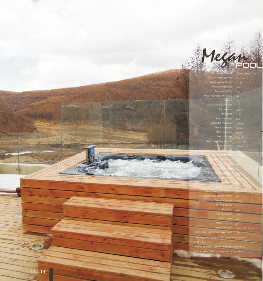 7 Person Outdoor SPA Jacuzzi Hot Tub