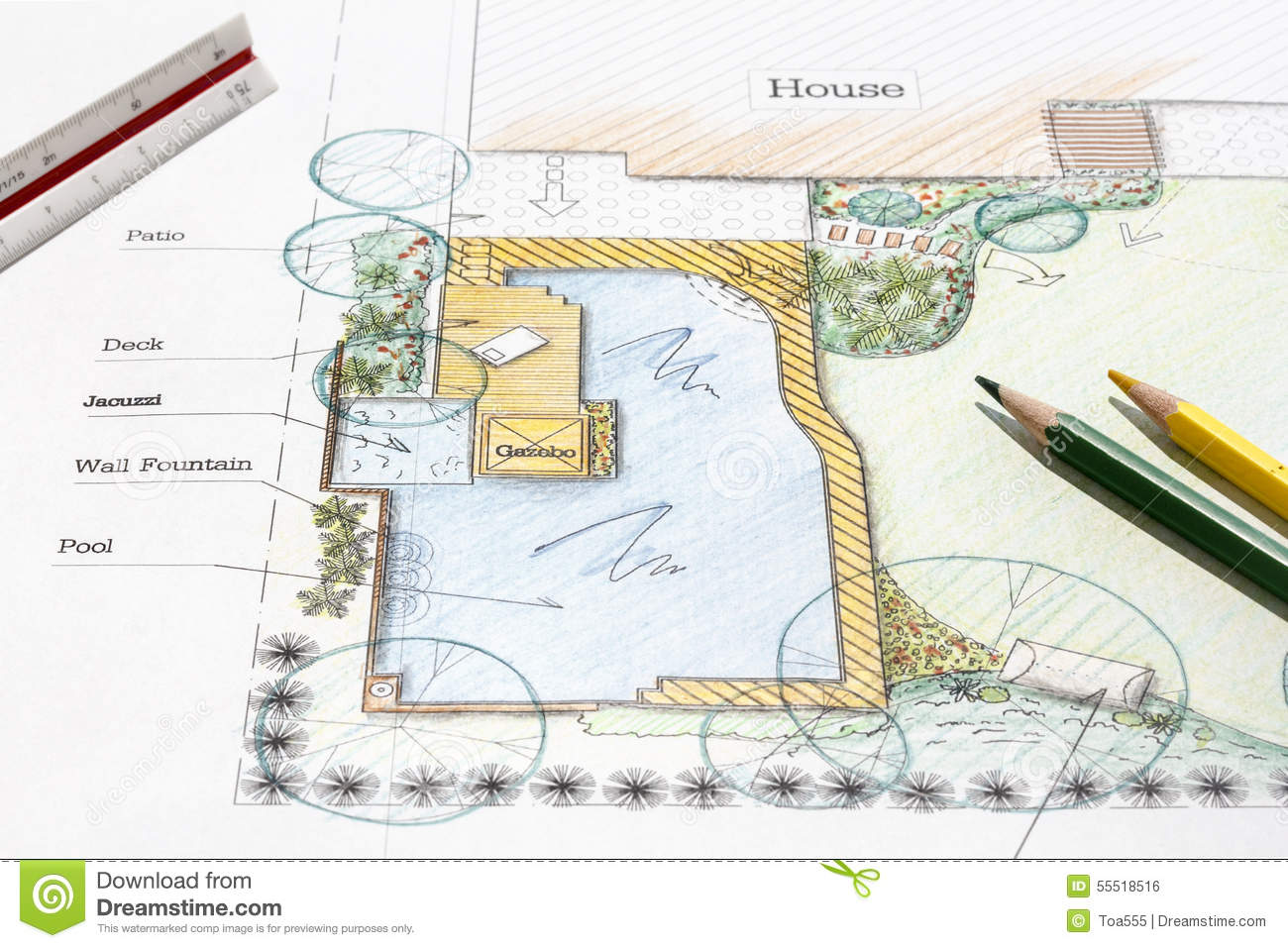 backyard garden design plan landscape architect