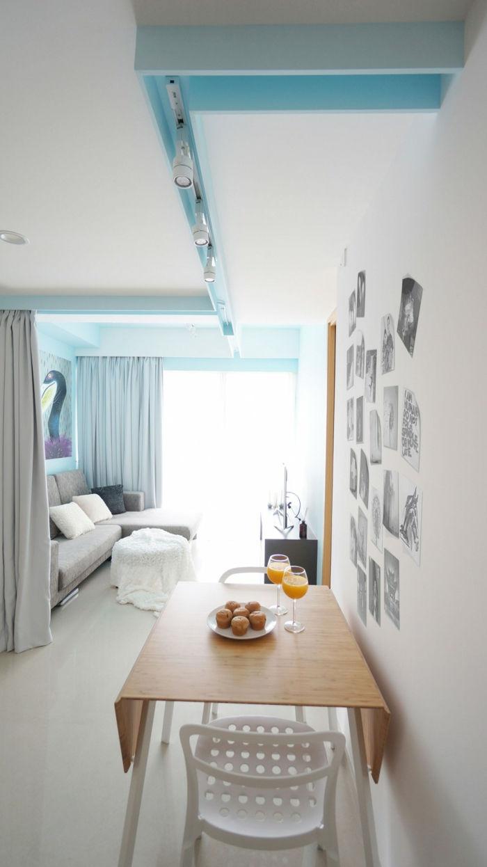 raumtrenner vorhang kleine wohnung gestaltenwohnzimmer esszimmer
