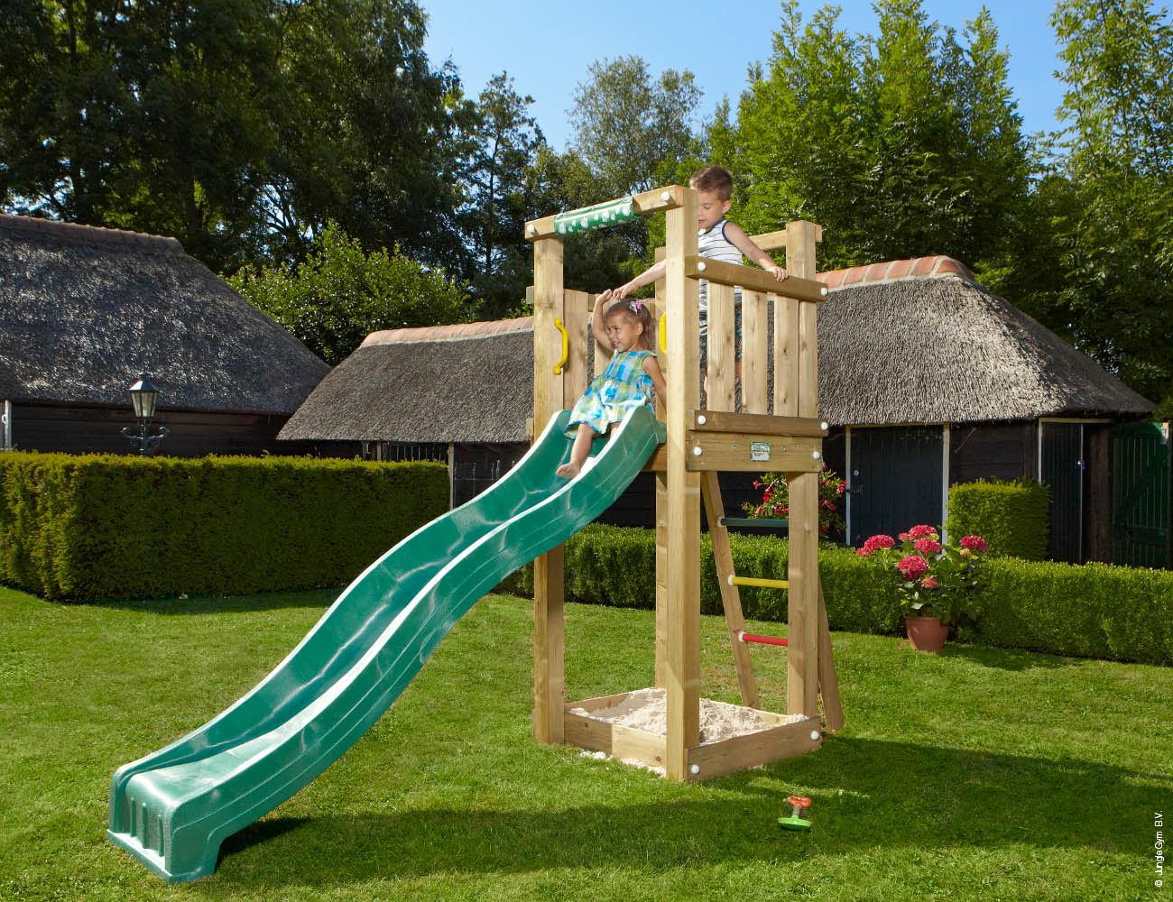 climbing frames for small gardens jungle tower darkgreen